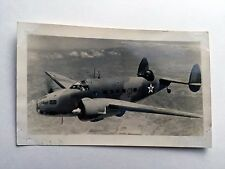 1940s Original Photograph of Lockheed A-29 Hudson Military Airplane