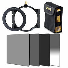 ZOMEI 100mm ND2+ND4+ND8+GND Gradual filter+77mm ring+holder+Case For Cokin Z LEE