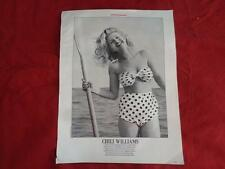 Cute CHILI WILLIAMS in a 2 piece Polka Dot Bathing Suit with an Oar and A Smile