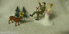 Wedding Party Reception Camo Hunter Hunting Deer Cake Topper Bow & Arrow
