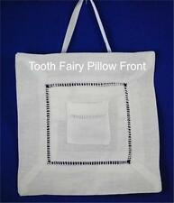 White Linen Hemstitched Wedding Ring Pillow or Child's Tooth Pillow