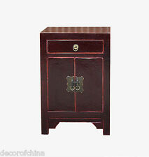 Nice Asian Chinese Small Wooden Side End Table Nightstand Chest w/Drawer Ma2-03