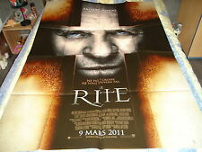 AFFICHE   HORREUR / ANTHONY HOPKINS / LE RITE