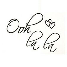 OOH LA LA Paris France Hearts Love Quote Vinyl Wall Decal Decor Art Sticker 13HE