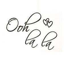 OOH LA LA Paris France Hearts Love Quote Vinyl Wall Decal Decor Art Sticker 13HE