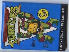 BOOSTER TORTUES NINJA SECONDE SERIE 5 Cartes + 1 Stick+