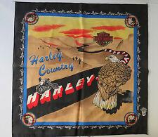 "Harley Davidson - Vintage Bandana Head Scarf  ""Harley Country"""