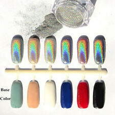 Rainbow Holographic Laser Powder Nail Glitter Chrome Pigments Decoration 1Box=2g