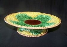 Vintage Majolica Pottery Pineapple Compote / Cake Stand