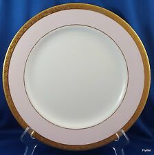 Mary Kay Dinner Plate Pink and White Gold Encrusted 10.5""