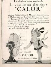 ▬► PUBLICITE ADVERTISING AD ventilateur électrique CALOR 1926
