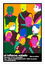 """Cuban movie Poster 4 film""""Psychedelic ARMY""""Generals art.El infierno volado.Color"""