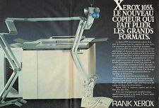 Publicité 1984 (Double Page)  RANK XEROX 1055  le nouveau copieur série 10
