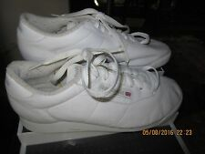 WOMEN'S REEBOK PRINCESS WHITE CLASSIC WALKING TENNIS SHOES SIZE 8.0