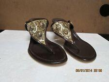 Oscar de la Renta Leather Heeled Sandals 37.5