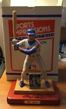 Gary Carter Twice Signed Sports Impressions Figurine ( Personally Owned ) MINT