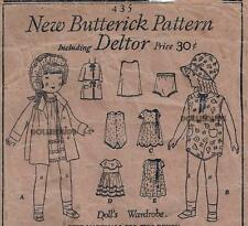 "VINTAGE 12"" ANTIQUE DOLL CLOTHES PATTERN 435"