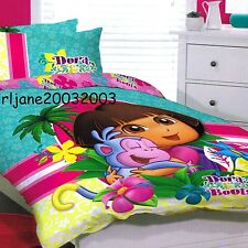 Dora the Explorer - Dora & Boots - Single/US Twin Bed Quilt Doona Cover Set