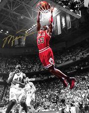 Michael Jordan Chicago Bulls NBA Finals Slam Dunk Signed Photo Autograph Reprint