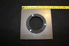 "LARGE FORMAT LENS BOARD 5 1/4"" X just under 5 1/4""  WITH MOUNTING RING"