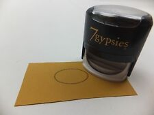 7 Gypsies Self Inking Stamp Oval Dots Rubber Stamps