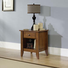 Oak Night Stand Bedroom Nightstand Bedside End Table Shelf Drawer Storage