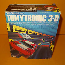 VINTAGE 1983 TOMY TOMYTRONIC 3-D PORTABLE ELECTRONIC THUNDERING TURBO GAME BOXED
