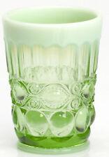 Tumbler - Eyewinker - Green Opalescent Glass - Mosser USA