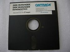"""Ontrack 5.25"""" Floppy Disk DISK MANAGER Seagate HDD MFM RLL ESDI ST412/ST506 1989"""