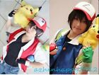 Unisex Pokemon Pocket Monster Ash Ketchum Costume Cosplay Jacket Coat Hat Gloves