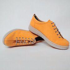 Womens Dansko Orange Canvas Arch Support Lace up Sneakers EU 38 US 7.5-8