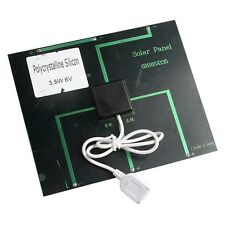 New 6V 3.5W 580-600MA Solar Battery Charger Panel USB Travel For Mobile Phone