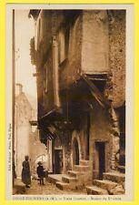 cpa 06 - PUGET THÉNIERS (Alpes Maritimes) MAISON Xe siècle Vieux QUARTIER animée