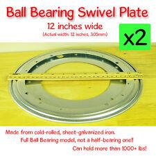 Full Ball Bearing Swivel Plate Lazy Susan Turntable - 12 inch (305mm) - 2 pcs