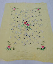 Antique Chinese Hand Embroidery Silk Wedding Sheet Tapestry 140x178cm M113