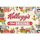 Targa in Latta Kellogg's The Original Collage 20 x 30 in metallo stampato