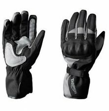 GENUINE TRIUMPH ACTON 2 WATERPROOF MOTORCYCLE GLOVES IN XX-LARGE BLACK / GREY