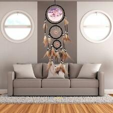 Handmade Dream Catcher With Feathers Wall Hanging Decoration Ornament-Wolf 27.5""