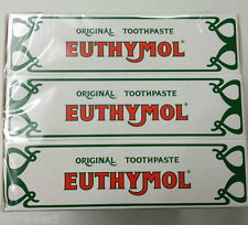 3 X 75ml Euthymol Original Toothpaste Brand of Antiseptic , Fluoride - Free New
