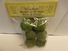 "Package of 6 Moss Ball. 2"" in diameter"