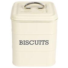 Biscuit Tin Storage Canister Cookie Barrel Vintage Living Nostalgia Enamel Retro