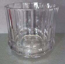 Vtg Heisey Glass Flat Panel Fruit Candy Biscuit Tobacco Jar Marked No lid