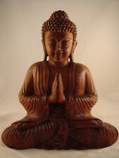 "12"" Hand Carved Meditating Buddha Sculpture"