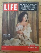 LIFE MAGAZINE OCTOBER 15 1956 LIZ TAYLOR MOVIE GIANT DRUGS MENTALLY SICK AURA
