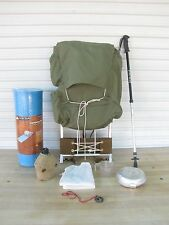 KELTY Style External Frame Backpack Green + Gear & Sleeping Pad