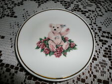 1994 Steiff Pink Teddy Bear Collectible Miniature Porcelain Plate Germany