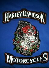 Harley Davidson Rockers With Lady Sugar Skull Patch FREE SHIPPING