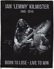 IAN LEMMY KILMISTER PATCH ROCK BORN TO LOSE LIVE TO WIN RIP A6+