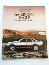 1980 AMC American Motors Eagle 4wd and Wagon 12-page Car Sales Brochure Catalog