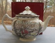 Vintage Johnson Brothers Friendly Village Teapot Tea Pot Server New in Box